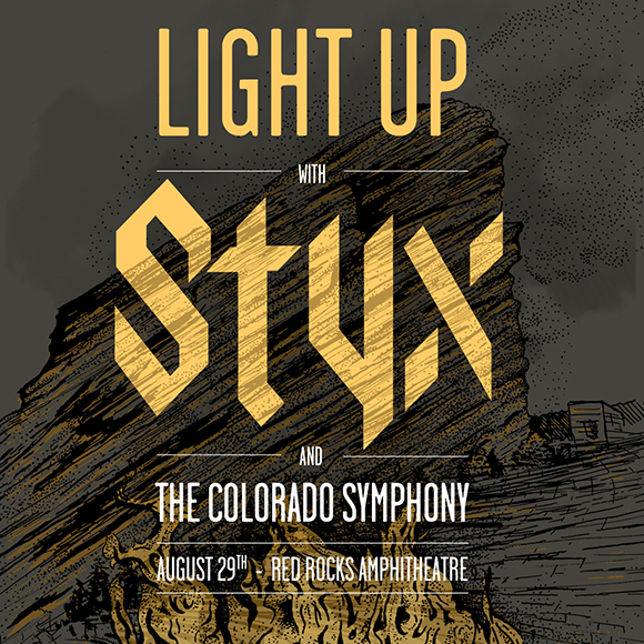 Styx & The Colorado Symphony at Red Rocks Amphitheater