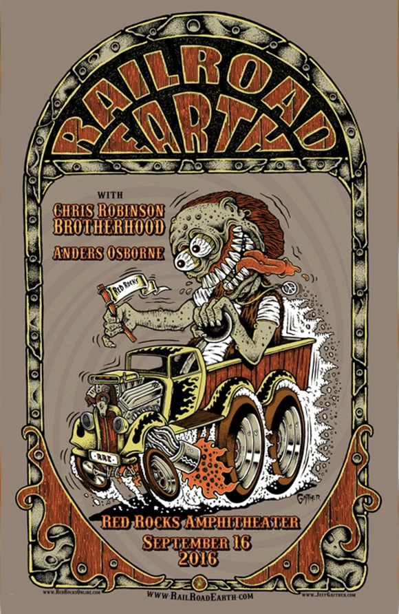 Railroad Earth, Chris Robinson Brotherhood & Anders Osborne at Red Rocks Amphitheater