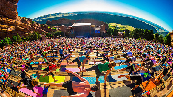 Yoga On The Rocks at Red Rocks Amphitheater