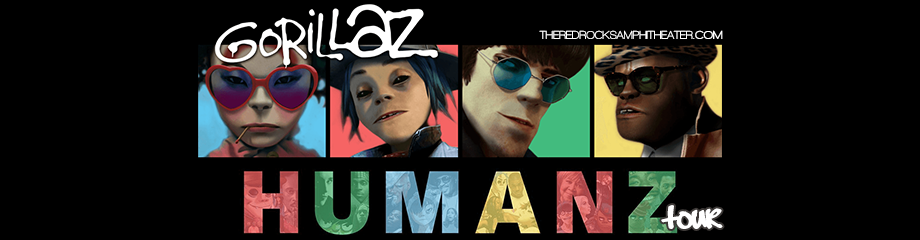Gorillaz at Red Rocks Amphitheater