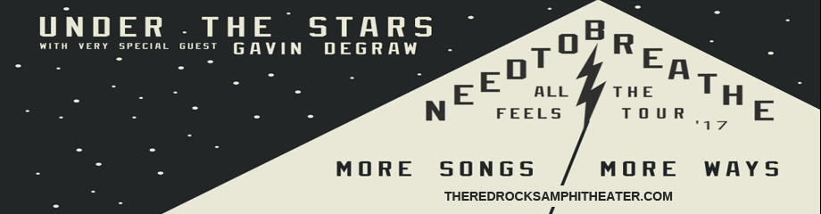 Needtobreathe & Gavin DeGraw at Red Rocks Amphitheater