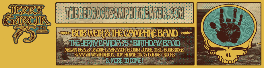Jerry Garcia 75th Birthday Concert: Bob Weir and The Campfire Band at Red Rocks Amphitheater