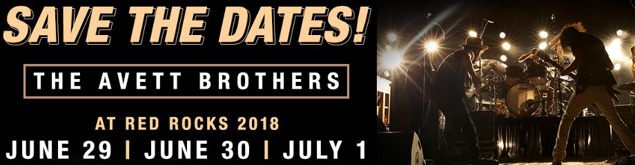 The Avett Brothers at Red Rocks Amphitheater