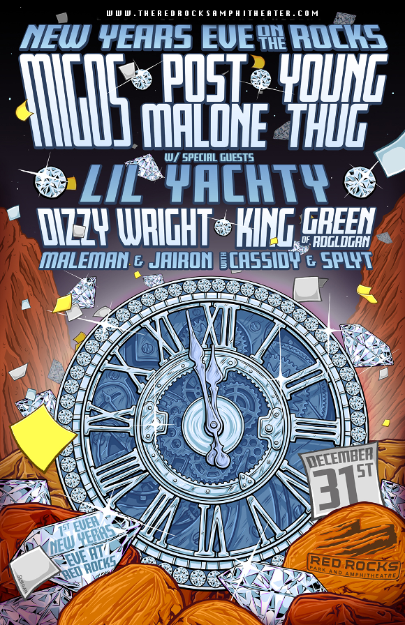 New Year's Eve On The Rocks: Migos, Post Malone, Young Thug & Lil Yachty at Red Rocks Amphitheater