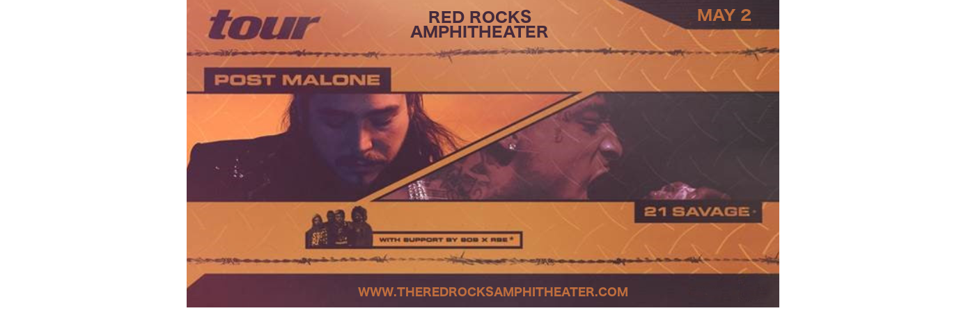 Post Malone & 21 Savage at Red Rocks Amphitheater