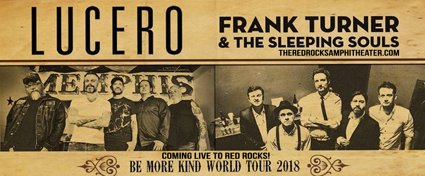 Frank Turner and The Sleeping Souls, Lucero - The Band & The Menzingers at Red Rocks Amphitheater
