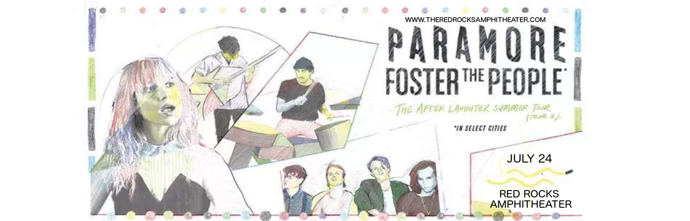 Paramore & Foster The People at Red Rocks Amphitheater