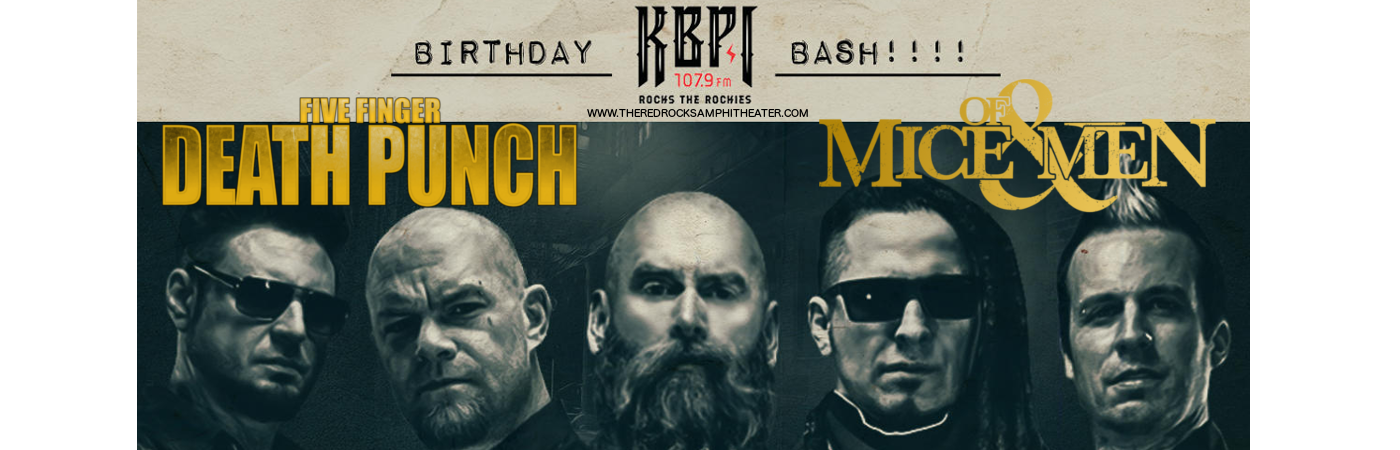 Five Finger Death Punch & Of Mice and Men at Red Rocks Amphitheater