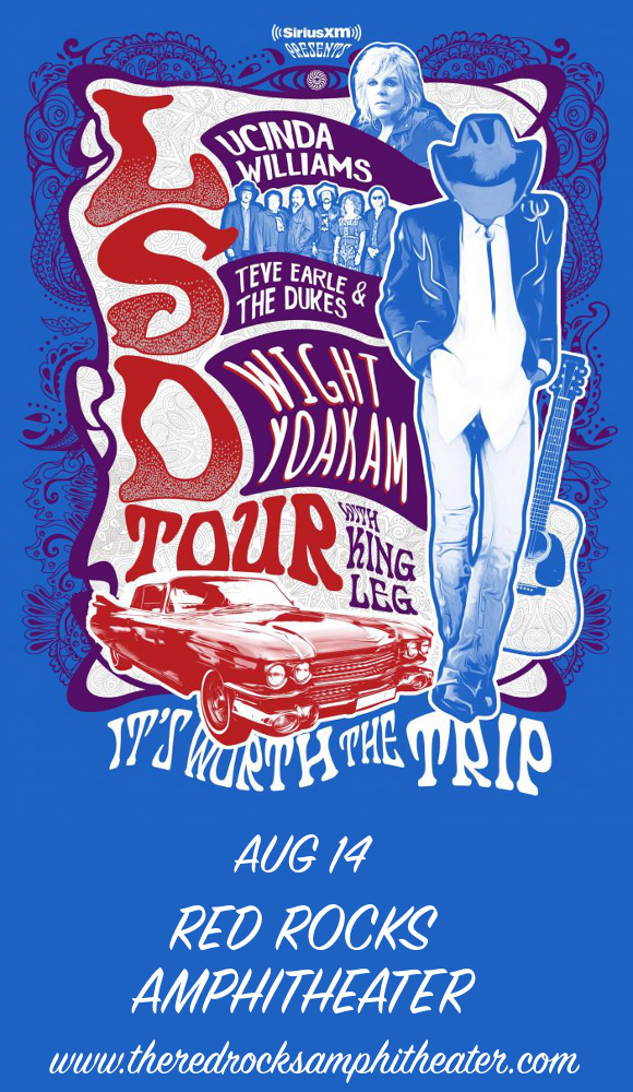 Lucinda Williams, Steve Earle and The Dukes & Dwight Yoakam at Red Rocks Amphitheater
