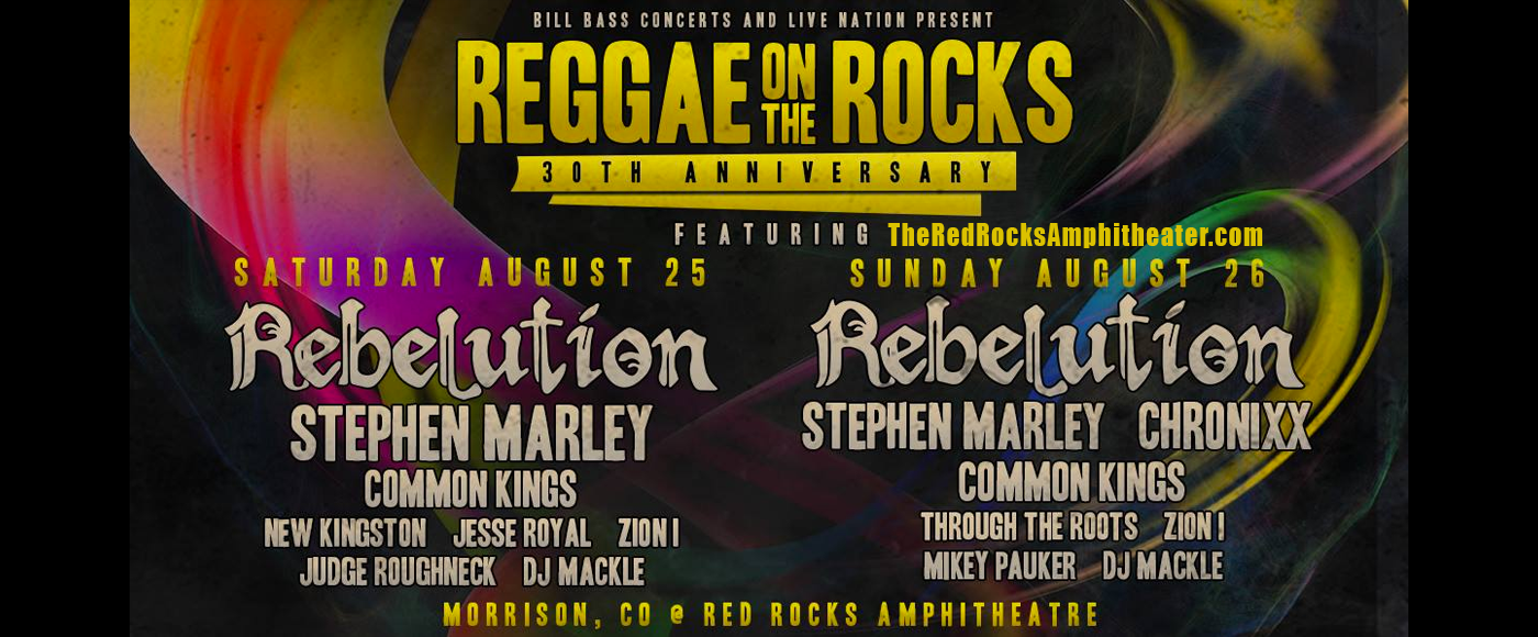 Reggae On the Rocks: Rebelution, Stephen Marley & Chronixx at Red Rocks Amphitheater