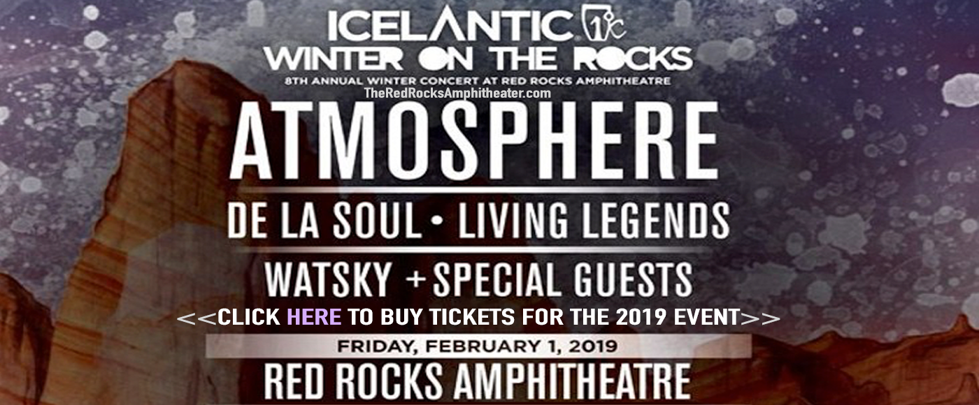 Icelantic's Winter On The Rocks: Atmosphere at Red Rocks Amphitheater