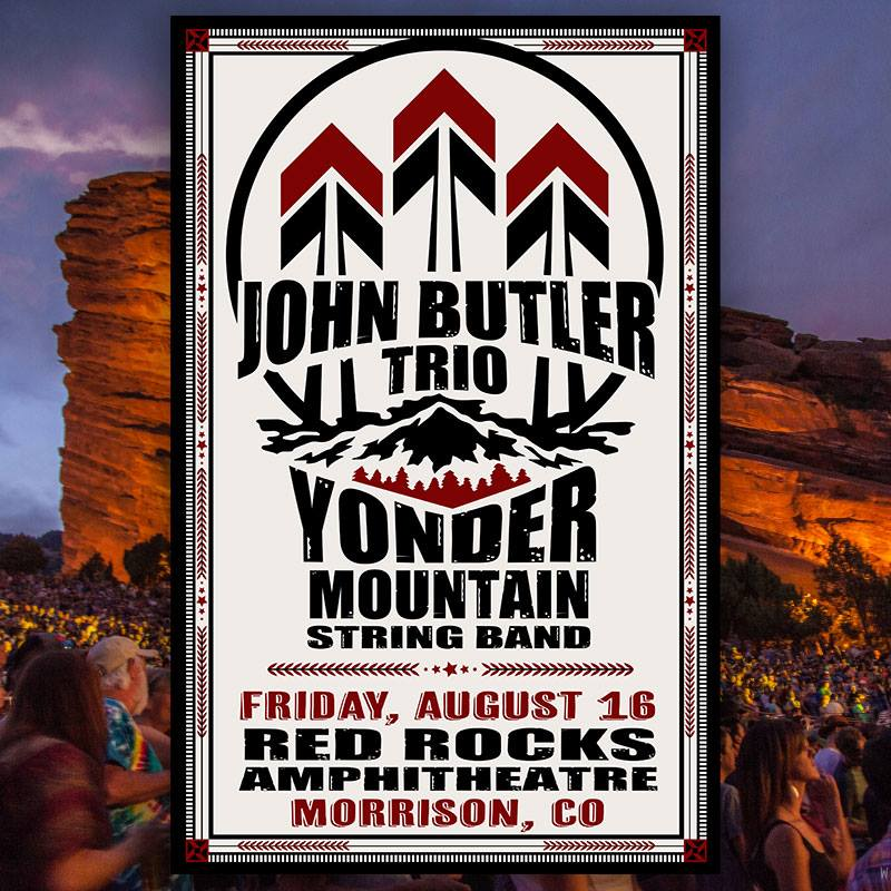 John Butler Trio & Yonder Mountain String Band at Red Rocks Amphitheater