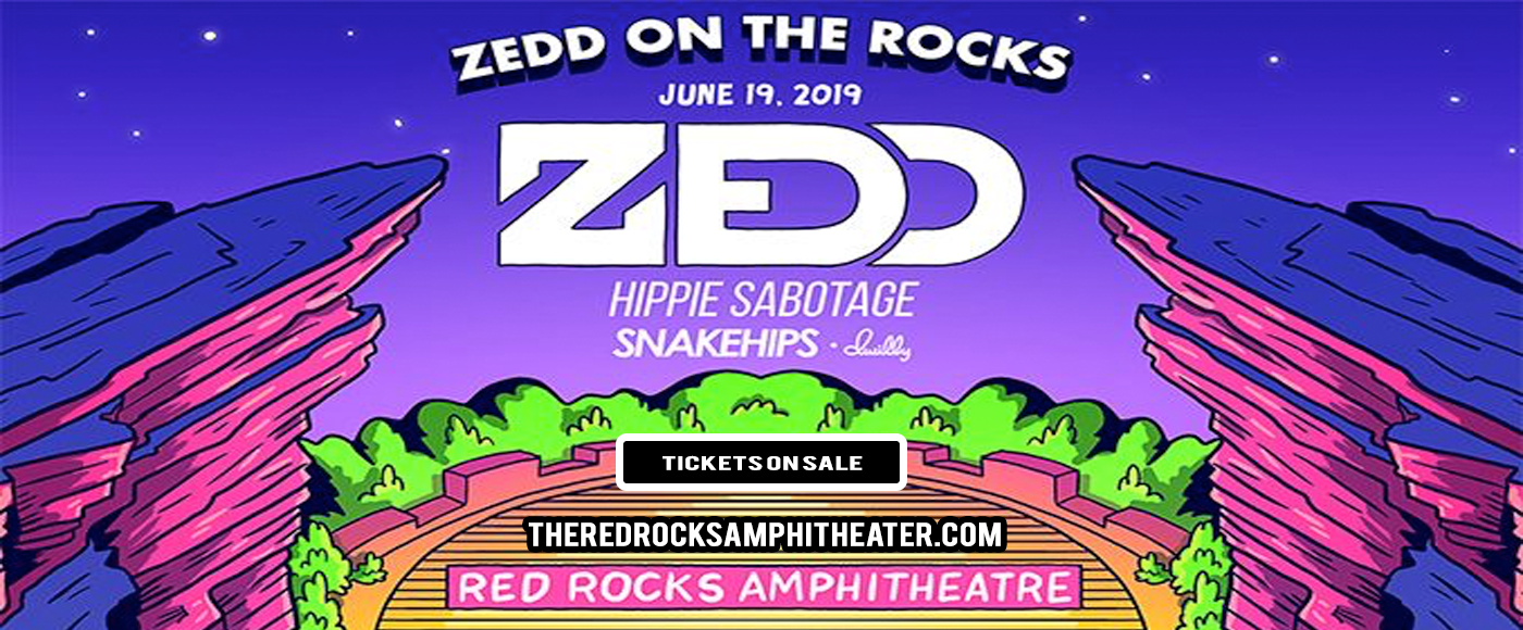Zedd On The Rocks: Zedd, Hippie Sabotage, Snakehips & Dwilly at Red Rocks Amphitheater