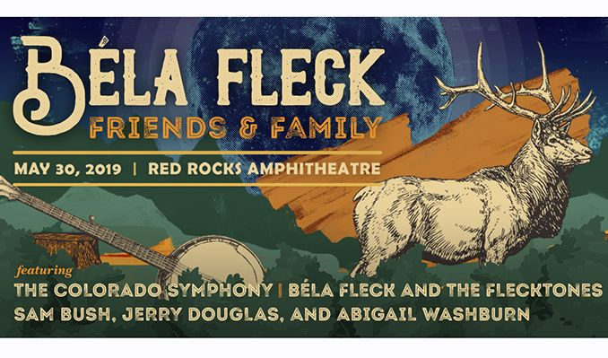 Bela Fleck and The Flecktones, Sam Bush, Jerry Douglas, Abigail Washburn & The Colorado Symphony at Red Rocks Amphitheater