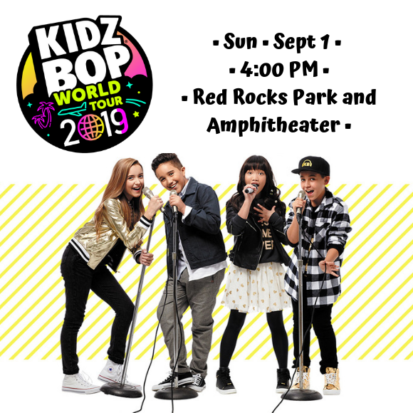 Kidz Bop Live Red Rocks Park and Amphitheatre at Red Rocks Amphitheater