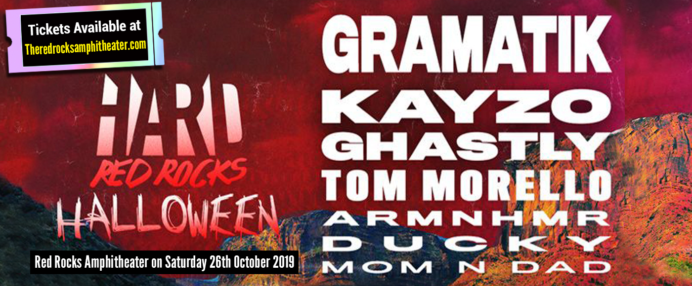 Hard Halloween: Gramatik, Kayzo, Ghastly, Tom Morello, Armnhmr, Ducky & Mom N Dad at Red Rocks Amphitheater