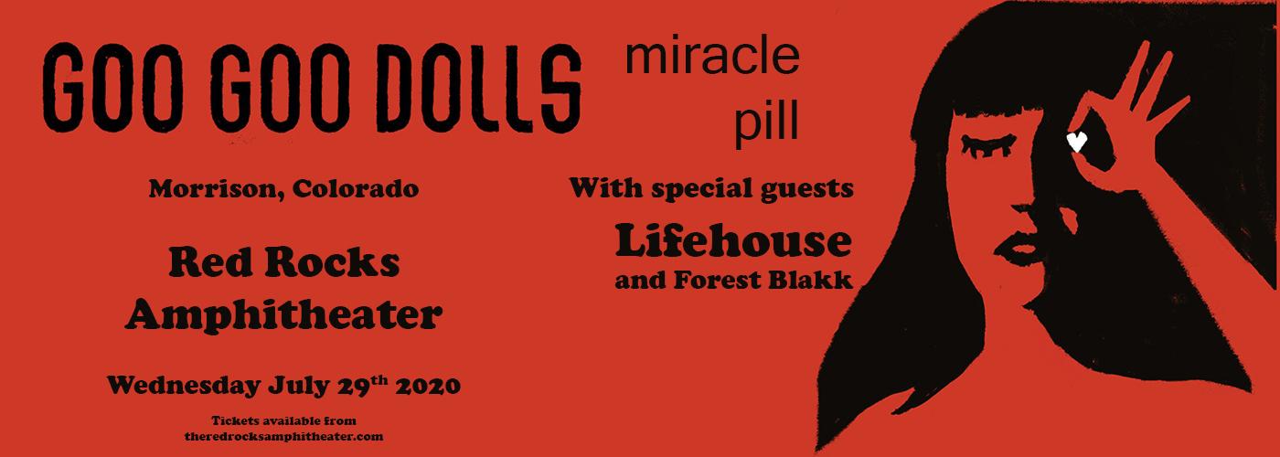 Goo Goo Dolls & Lifehouse at Red Rocks Amphitheater