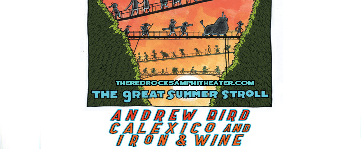 Andrew Bird, Calexico & Iron and Wine at Red Rocks Amphitheater