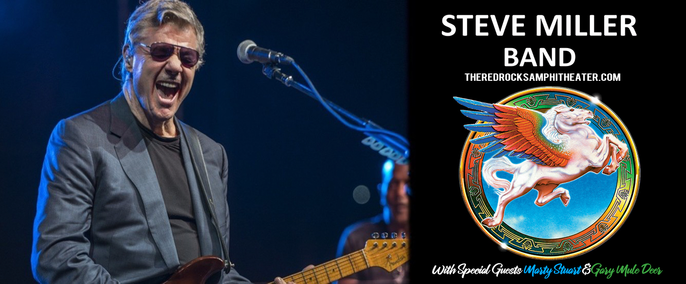 Steve Miller Band, Marty Stuart and The Fabulous Superlatives & Gary Mule Deer [CANCELLED] at Red Rocks Amphitheater