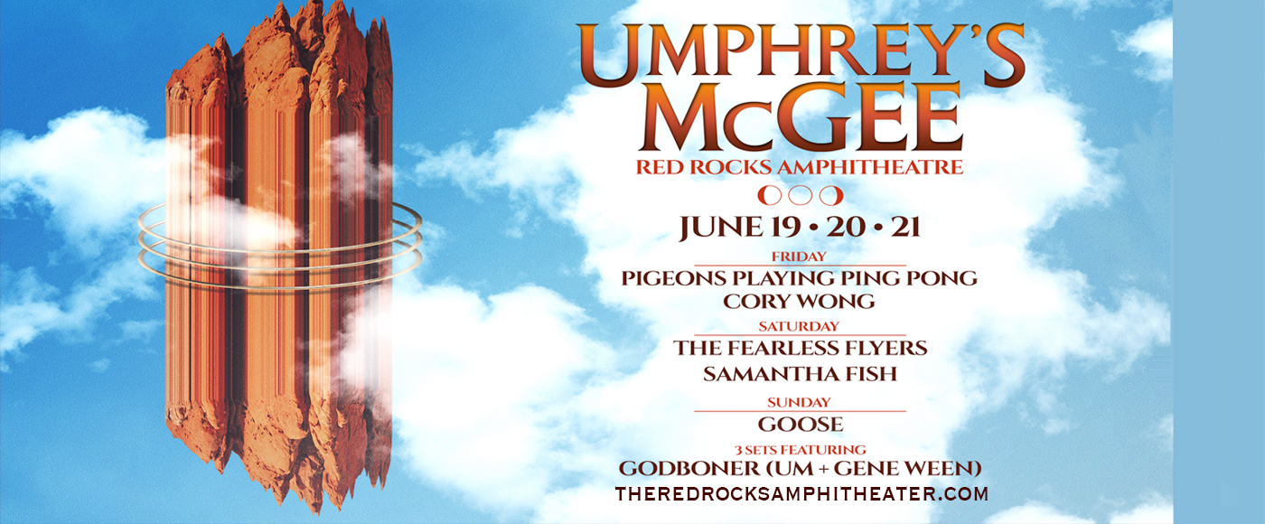 Umphrey's McGee, Pigeons Playing Ping Pong & Cory Wong [CANCELLED] at Red Rocks Amphitheater