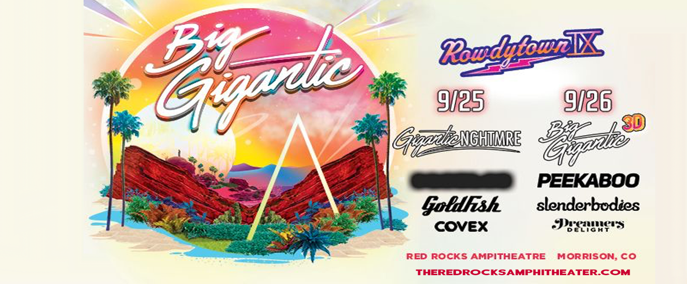 Rowdytown IX: Gigantic & Nghtmre at Red Rocks Amphitheater