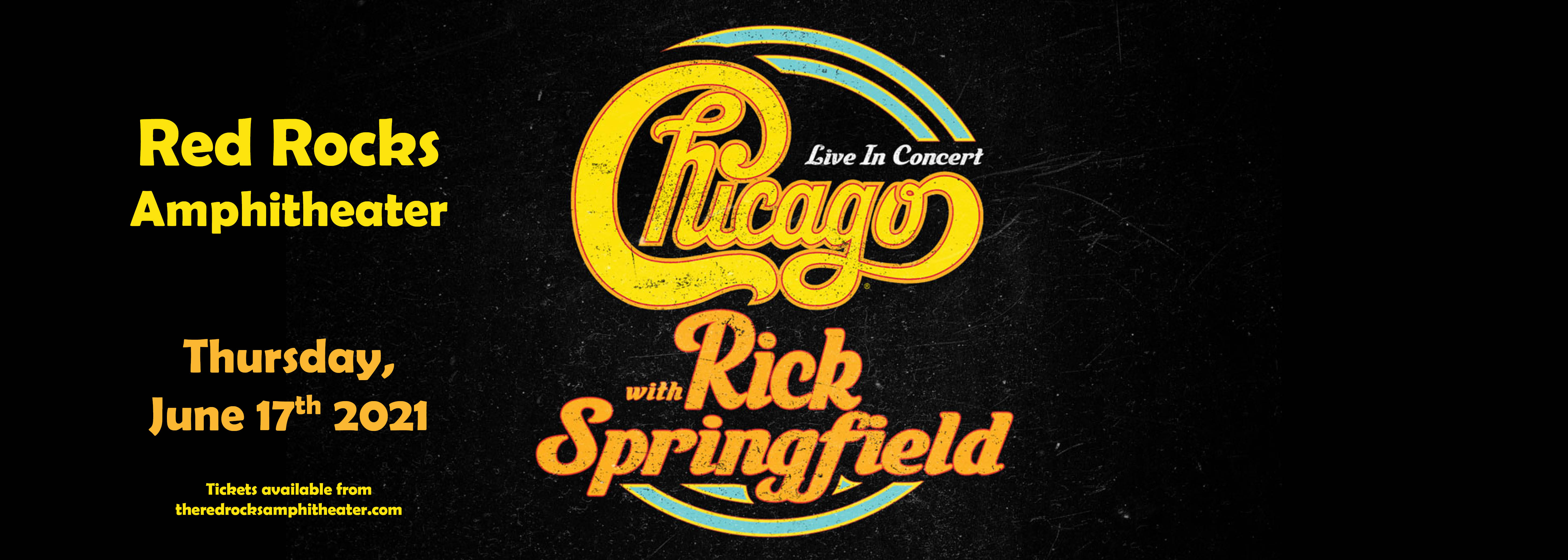 Chicago - The Band & Rick Springfield [CANCELLED] at Red Rocks Amphitheater