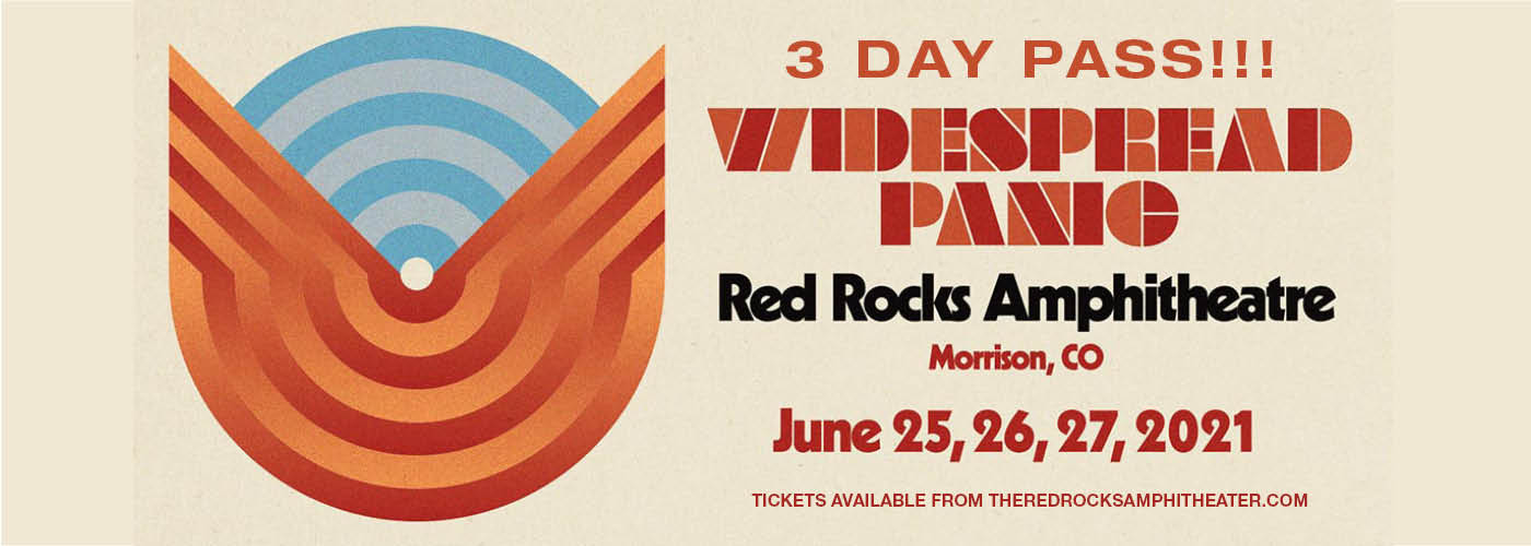 Widespread Panic - 3 Day Pass at Red Rocks Amphitheater