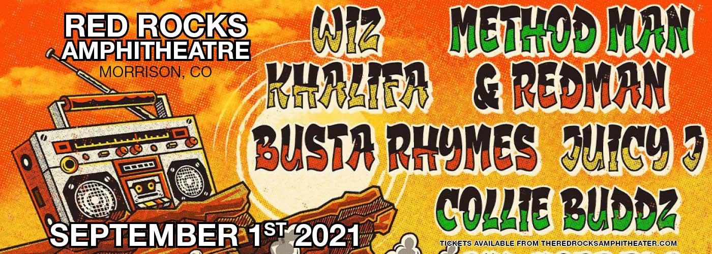 420 on the Rocks presents Wiz Khalifa, Method Man, Redman & Busta Rhymes at Red Rocks Amphitheater