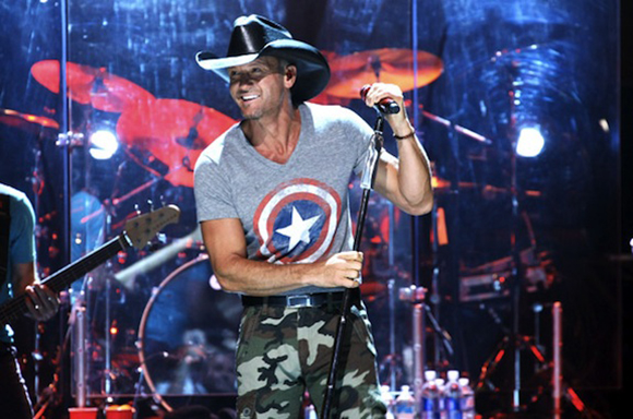 Tim McGraw, Billy Currington & Chase Bryant at Red Rocks Amphitheater