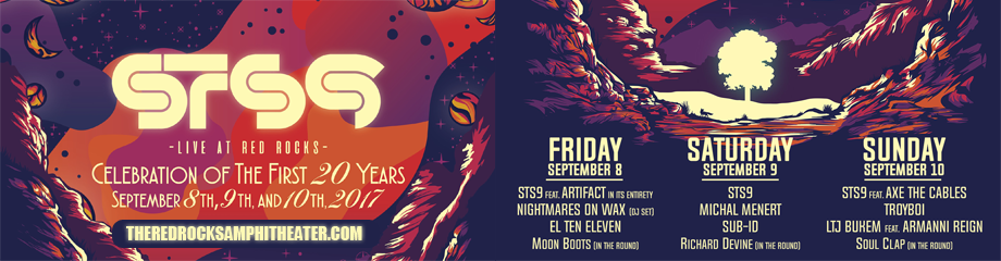 STS9 - Sound Tribe Sector 9, Nightmares On Wax & El Ten Eleven at Red Rocks Amphitheater