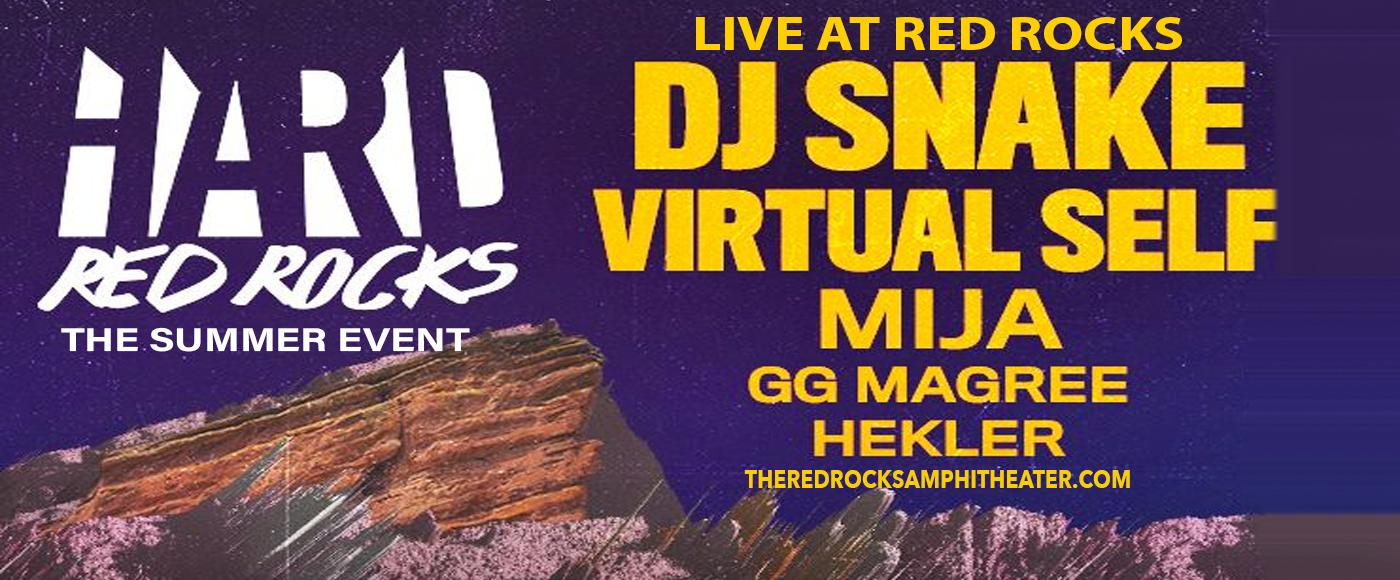 Hard Red Rocks: DJ Snake, Virtual Self, Mija, GG Magree & Hekler at Red Rocks Amphitheater