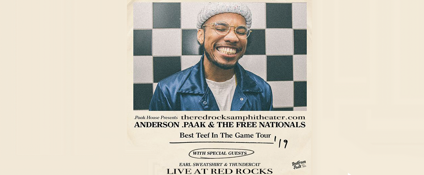 Anderson .Paak at Red Rocks Amphitheater