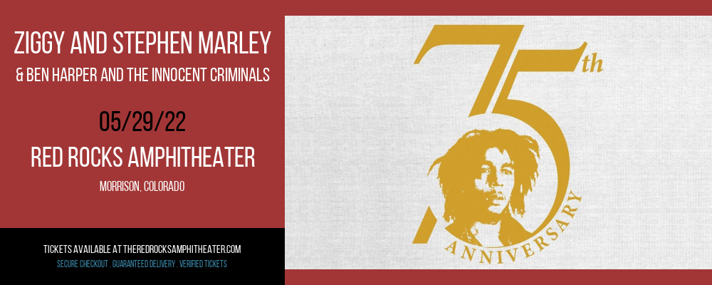 Ziggy and Stephen Marley & Ben Harper and The Innocent Criminals at Red Rocks Amphitheater