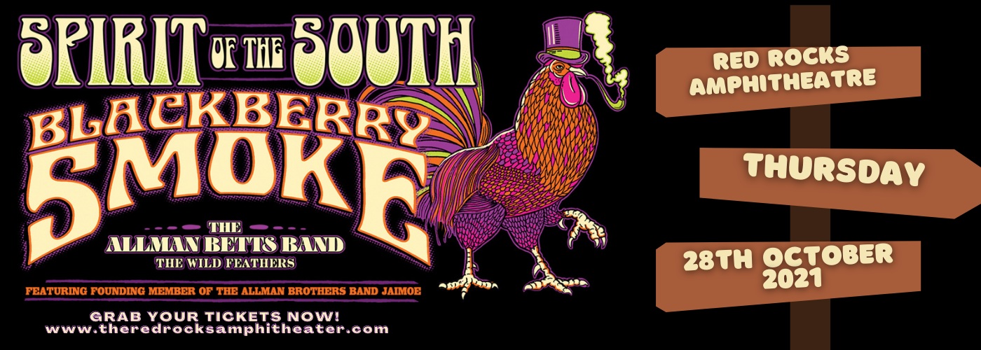 Spirit of the South Tour: Blackberry Smoke, The Allman Betts Band, Jaimoe & The Wild Feathers at Red Rocks Amphitheater